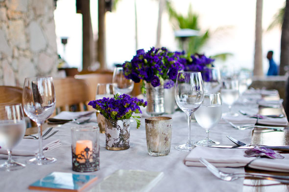 blue wedding flowers Los Cabos, Mexico Destination Wedding