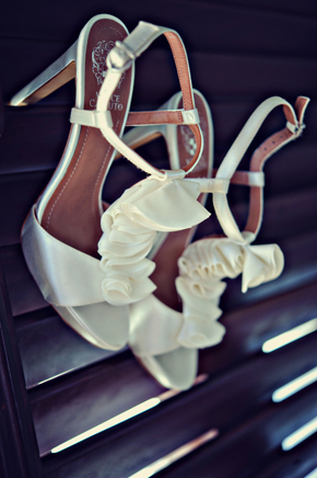 bridal shoes1 Destination Wedding on a Boat in Barbados