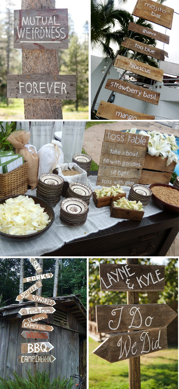 creative wedding signs Destination Wedding Signs