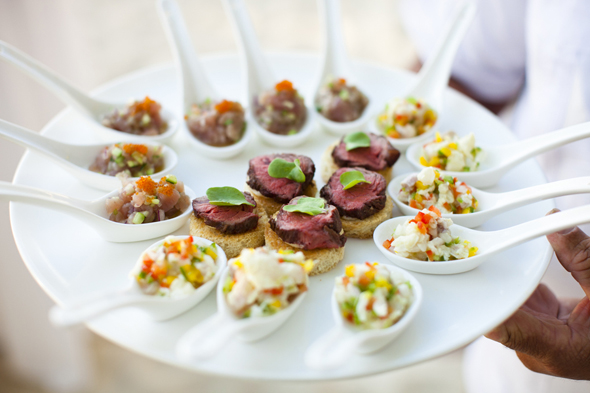 Beach weddings the destination wedding blog jet fete for Asian canape ideas