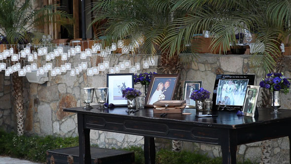 escort cards table Los Cabos, Mexico Destination Wedding
