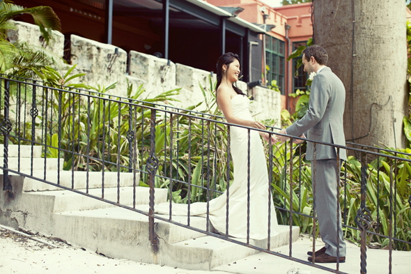 first look photos Destination Wedding in the Bahamas