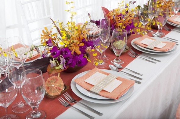 fucshia and orange weddings