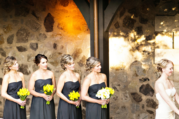 grey and yellow wedding St. Helena Destination Wedding