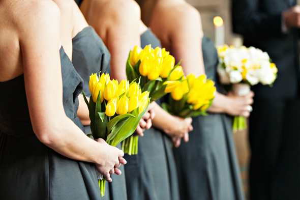 grey and yellow weddings