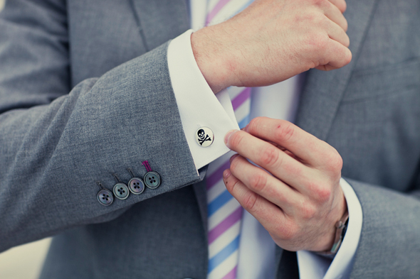 groom cuff links Destination Wedding in the Bahamas
