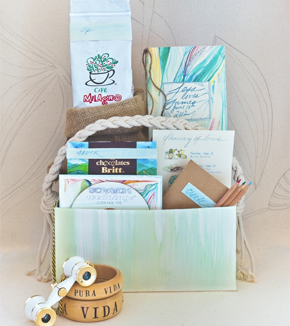 kristy rice welcome bags Watercolor Wedding Ideas