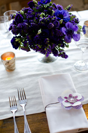 purple wedding details Los Cabos, Mexico Destination Wedding
