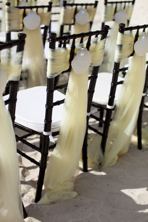 shell chair treatments Destination Wedding in the Bahamas