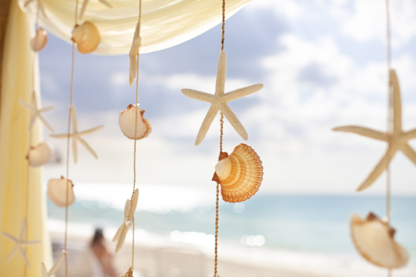 shell wedding ideas Destination Wedding in the Bahamas