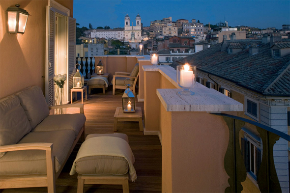 spanish steps luxury hotels Portrait Suites in Rome, Italy