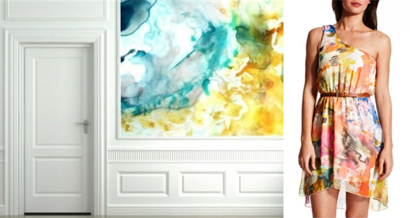 watercolor bridesmaid dresses Watercolor Wedding Ideas