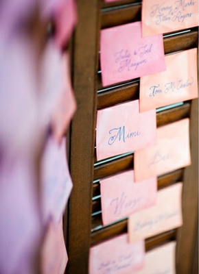 watercolor place cards Watercolor Wedding Ideas