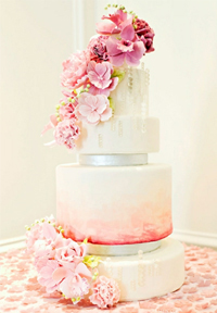 watercolor wedding cakes