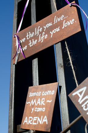 wedding sign ideas Los Cabos, Mexico Destination Wedding