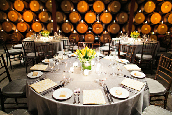 wine cellar wedding St. Helena Destination Wedding