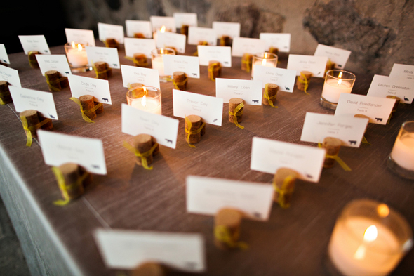 wine place cards St. Helena Destination Wedding