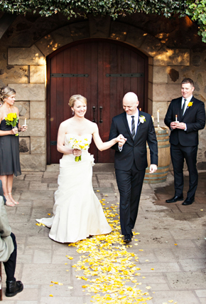 yellow and grey wedding ideas St. Helena Destination Wedding