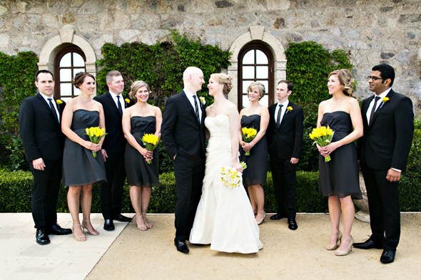 yellow and grey weddings St. Helena Destination Wedding