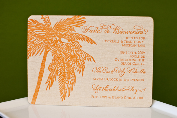 Mexico wedding invitation