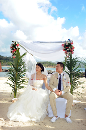 beach wedding ceremony St. Lucia Destination Wedding