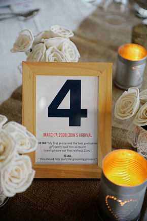 creative table numbers St. Lucia Destination Wedding