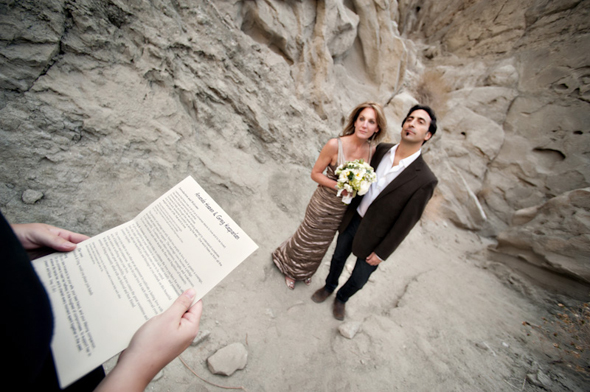 desert wedding California Desert Fault Line Wedding