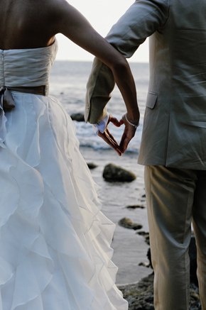 heart St. Lucia Destination Wedding