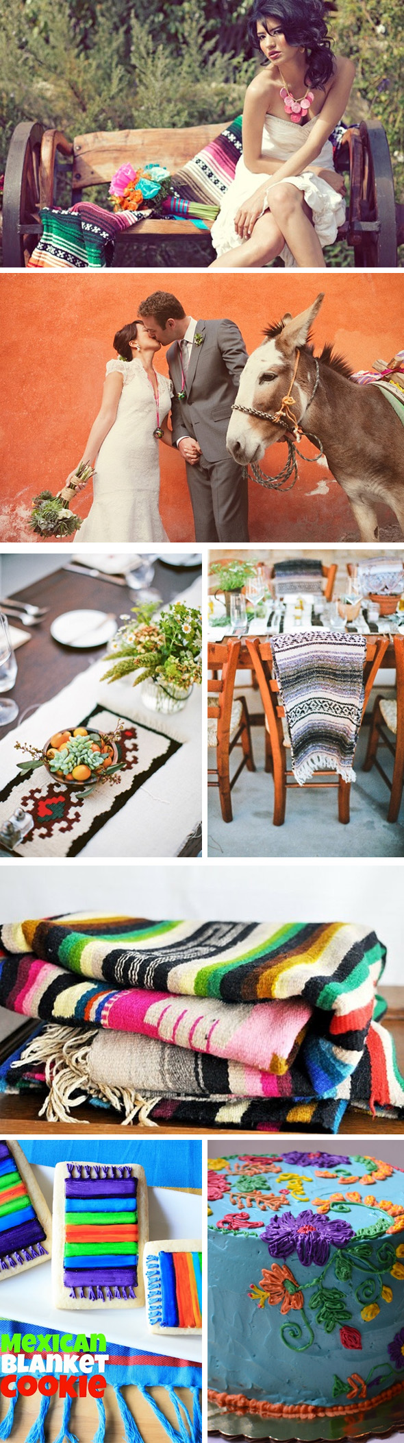 mexican blanket wedding Mexican Textile Inspired Weddings