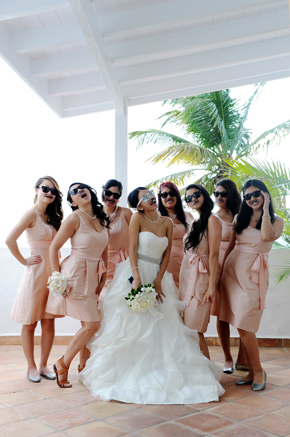 peach bridesmaid dresses St. Luci
