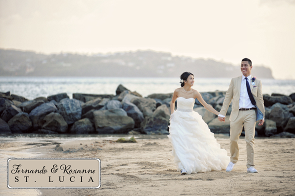 st lucia destination wedding photos