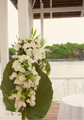 st lucia wedding flowers