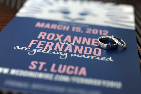 st lucia wedding invitations
