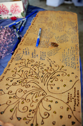 unique wedding guest book St. Lucia Destination Wedding
