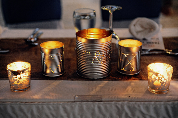 wedding candle tins St. Lucia Destination Wedding