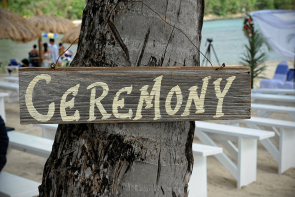wedding ceremony sign St. Lucia Destination Wedding
