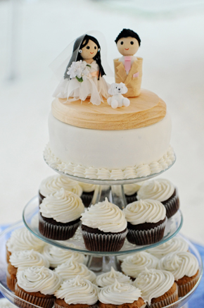 wedding cupcakes St. Lucia Destination Wedding