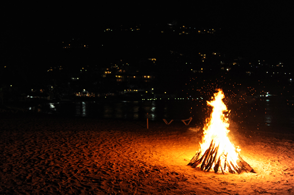 wedding fire pit St. Lucia Destination Wedding