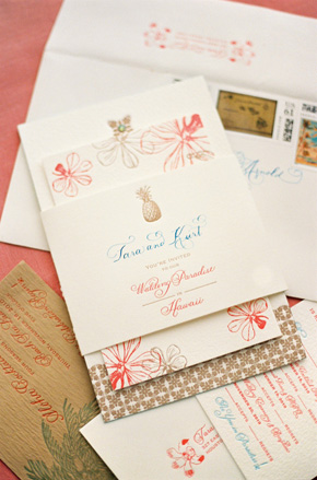 Hawaii wedding invitations