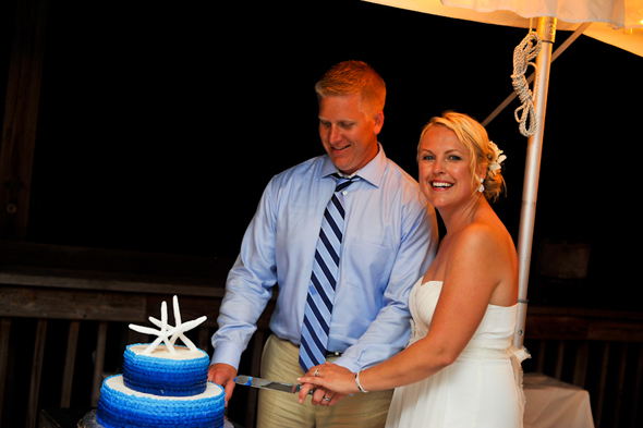 beach wedding cake Key West, Florida Destination Wedding