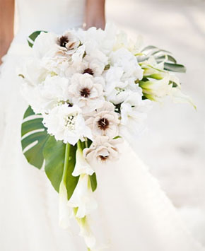 beach weddings bouquets