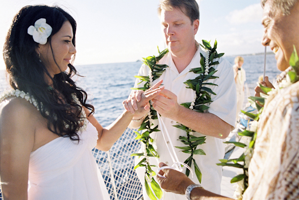 cruise wedding Maui, Hawaii Destination Wedding on a Boat