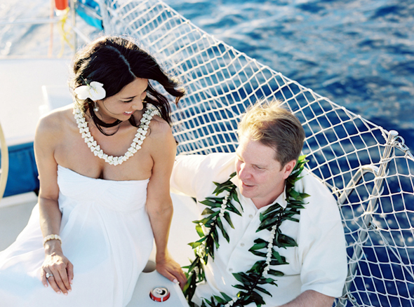 destination wedding hawaii Maui, Hawaii Destination Wedding on a Boat