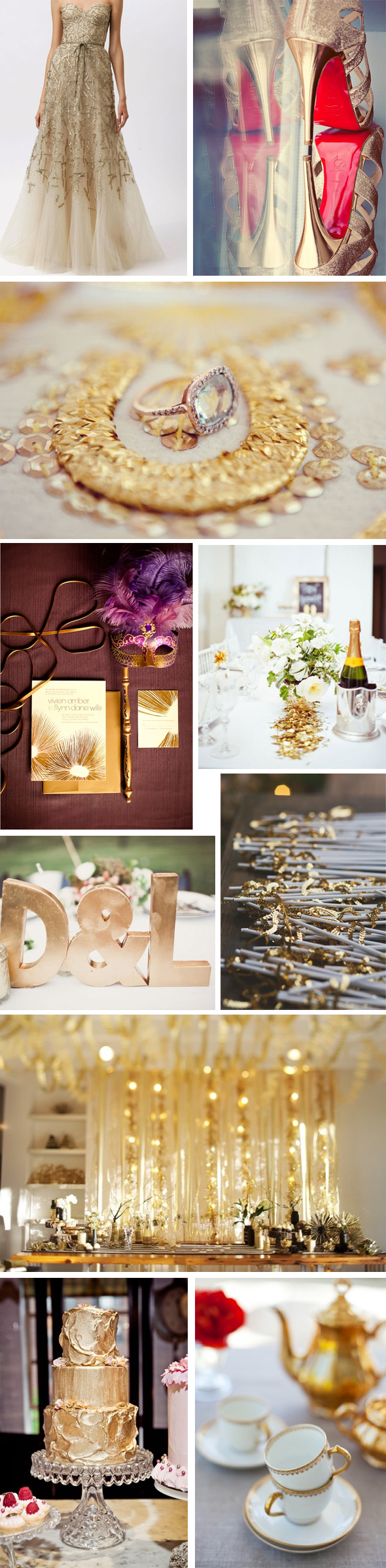 gold sparkle wedding