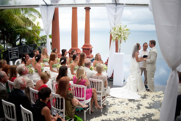 green and white weddings Costa Rica Destination Wedding at Zephyr Palace