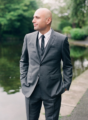 grey grooms suit Destination Wedding in Ireland Photo Shoot