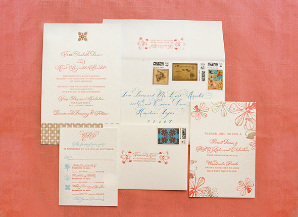 hawaii wedding invitations,