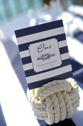 nautical table numbers Key West, Florida Destination Wedding