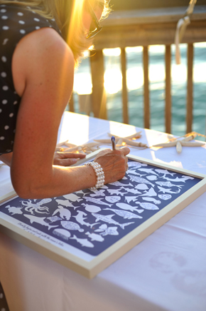 nautical wedding sign in book Key West, Florida Destination Wedding