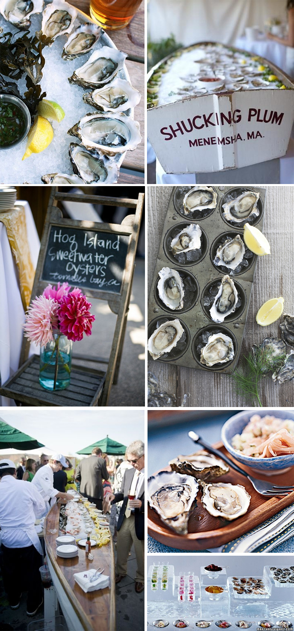 oysters at weddings